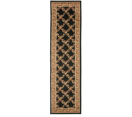 "Lyndhurst Open Floral Power Loomed 2'3"" x 12' Runner"