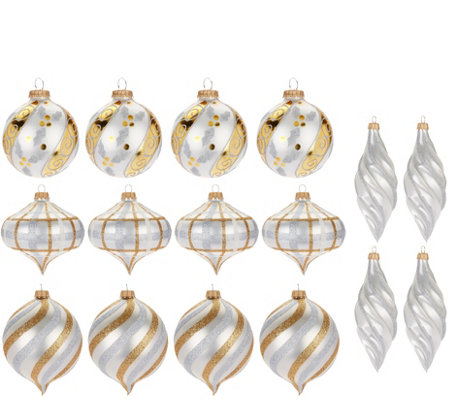 16-piece Ornament Set in Storage Box by Valerie