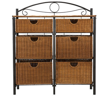 Andrews Iron and Wicker Storage Chest