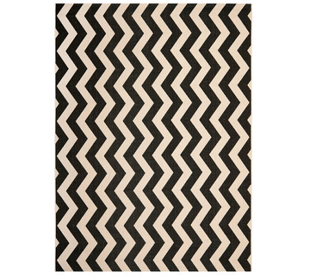 Safavieh 8' x 11' Vertical Zigzag Indoor/Outdoor Rug