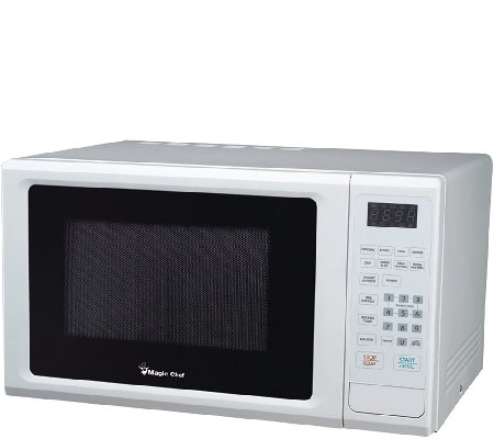 Magic Chef 1.1CF 1000W Microwave with Digital Touch - White