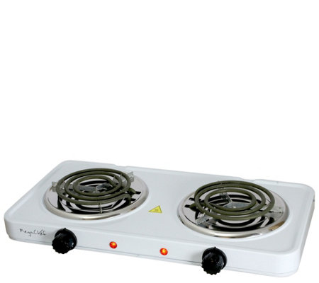 MegaChef Portable Dual Electric Coil Cooktop