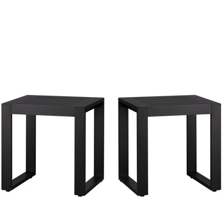 Real Flame Set of 2 Outdoor Baltic End Tables