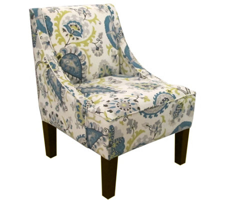 Skyline Furniture Ladbroke Peacock Swoop Arm Chair