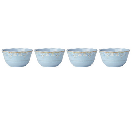 Lenox Set of 4 French Perle Blue Bowl Set