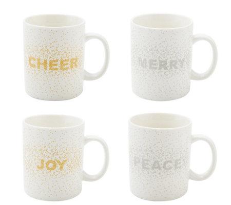 Mikasa Cheers Confetti Set Of 4 Mugs