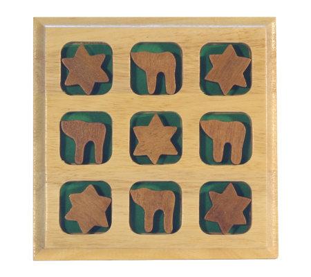 Copa Judaica Wood Jewish Tic Tac Toe