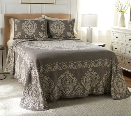 """As Is"" Richmond 100% Cotton Jacquard Woven Bedspread"