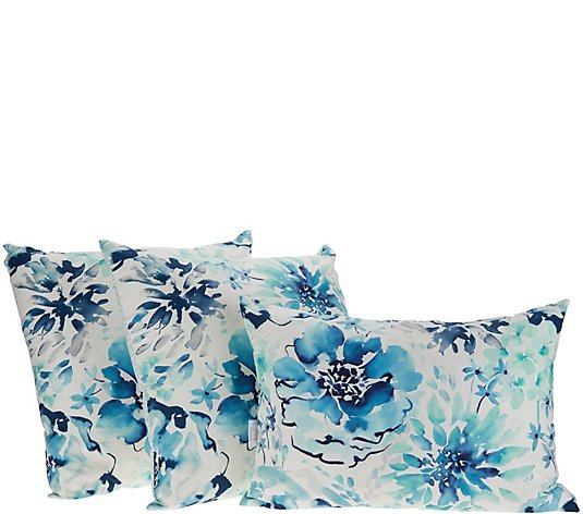 Stay by Stacy Garcia Set of 3 Watercolor Floral Pillows