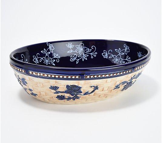 temp-tations floral lace 2 qt bowl w/lid | eBay