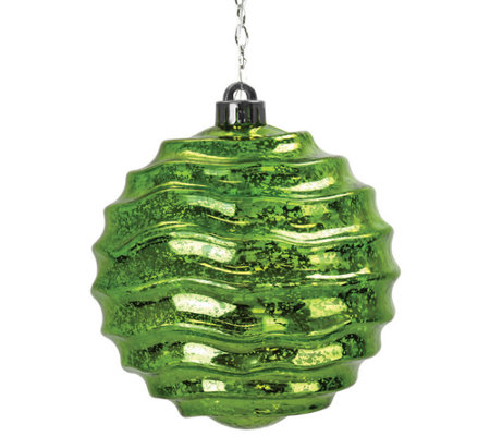 Exhart Solar Medium Wave Orb Ornament