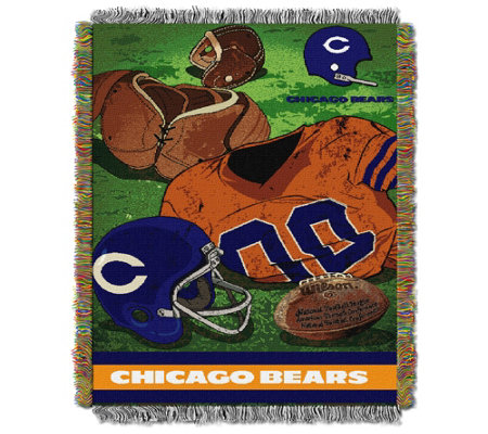 "NFL Vintage-Style Tapestry Throw 48"" x 60"""
