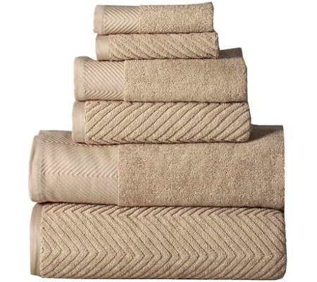 Elegance Spa Jacquard 6 Piece Towel Set