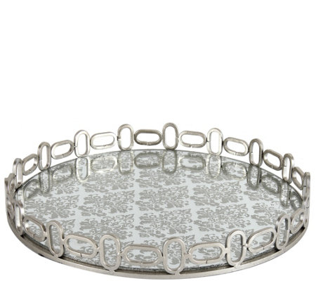 Rosa Mirrored Accent Tray by Valerie