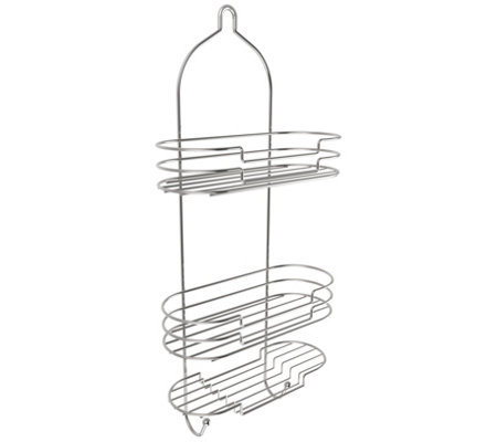 Lavish Home Tall Shower Caddy Organizer with Shelves and Hook