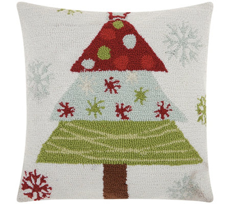 "Mina Victory Hook Tree Multicolor 18"" x 18"" Throw Pillow"