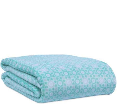 Berkshire Blanket Mosaic Print Velvet Soft Kingbed Blanket