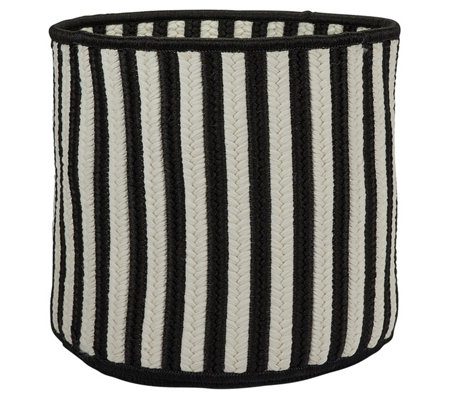 Colonial Mills Baja Stripe Basket Black 12 X12 X 10