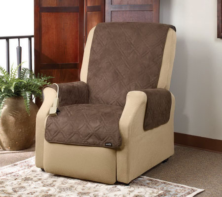 Sure Fit Quilted Suede Pet Throw Wing/ReclinerSlipcover