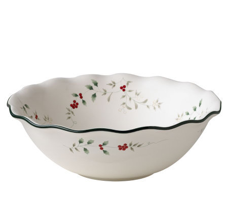 Pfaltzgraff Winterberry Large Ruffled Pasta Bowl