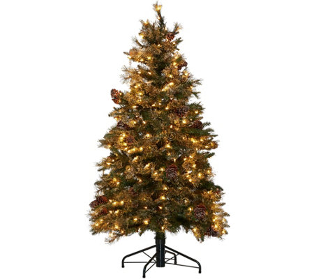 Hallmark 5' Fallen Snow Christmas Tree with Quick Set Technology