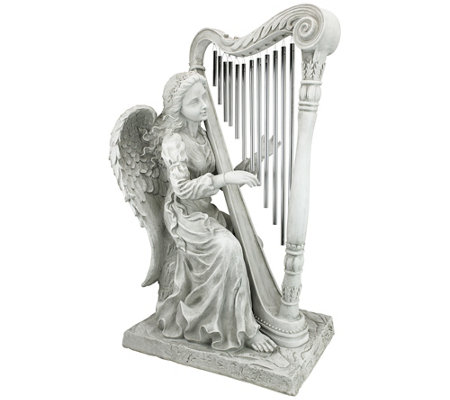 Design Toscano Music from Heaven Angel Wind Chime Statue