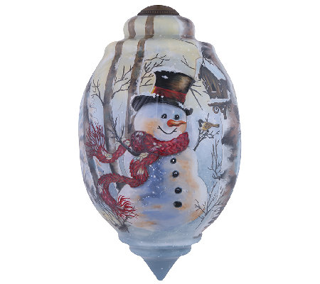 Birch Forest Snowman Ornament by Ne'Qwa