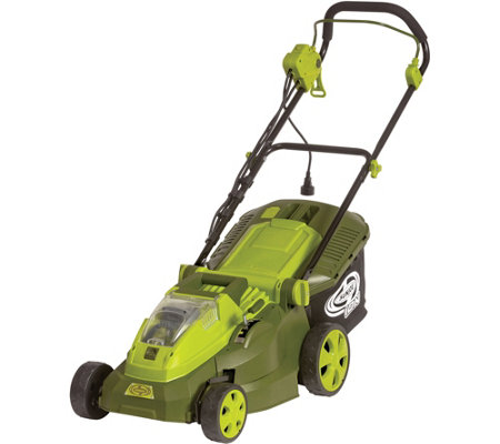 "Sun Joe iON 40V Hybrid Cordless or Electric 16""Lawn Mower"