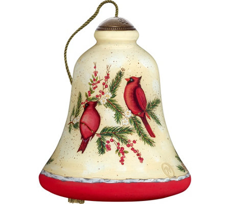 "4.50"" Good Tidings Cardinals Ornament by Ne'Qwa"