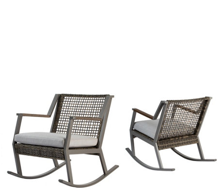 Real Flame Set of 2 Calvin Rocker Chairs
