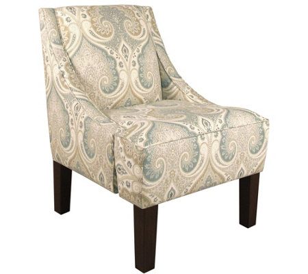 Skyline Furniture Latika Seafoam Swoop Arm Chair