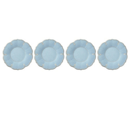 Lenox Set of 4 French Perle Blue Dinner Plate Set
