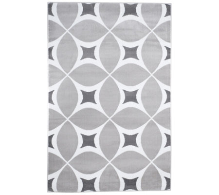 "Lavish Home 3'3"" x 5' Decorative Pattern Rug"
