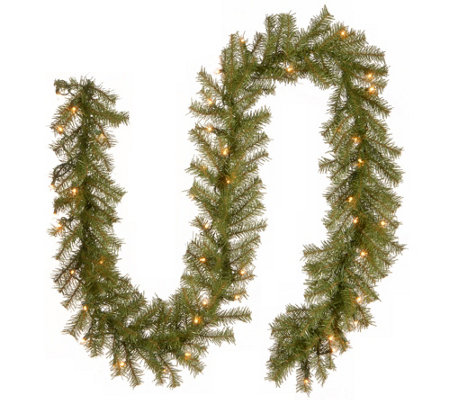 National Tree Company 9' Norwood Fir Prelit Garland