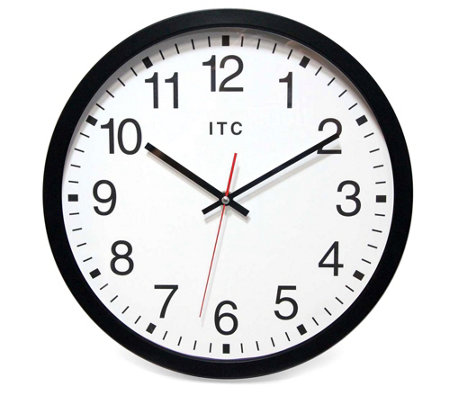 Infinity Instruments 14 Black Business Clock