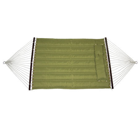 Bliss Hammocks Quilted Hammock with DetachablePillow - Sage