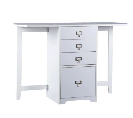 Windsor White Fold-Out Organizer & Craft Desk
