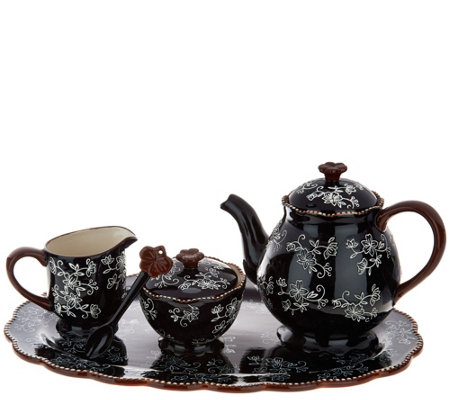 Temp-tations Floral Lace Tea Set