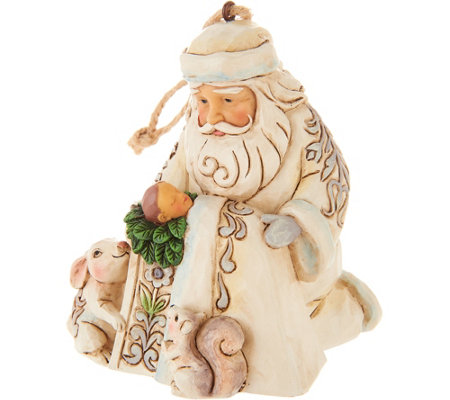 Jim Shore Heartwood Creek Woodland Santa with Baby Ornament