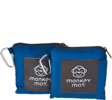 """As Is"" Set of 2 Monkey Mats Portable Floor Mat by Lori Greiner"