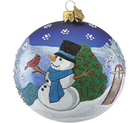 Reed & Barton Classic Christmas Snowball Ornament