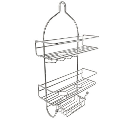 Lavish Home 3-Tier Shower Caddy with Shelves and Hooks