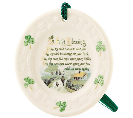 Belleek Irish Blessing Plate Ornament