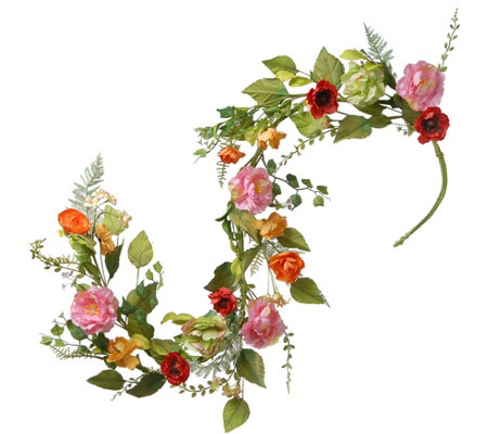 National Tree Company 5' Spring Flower Garland