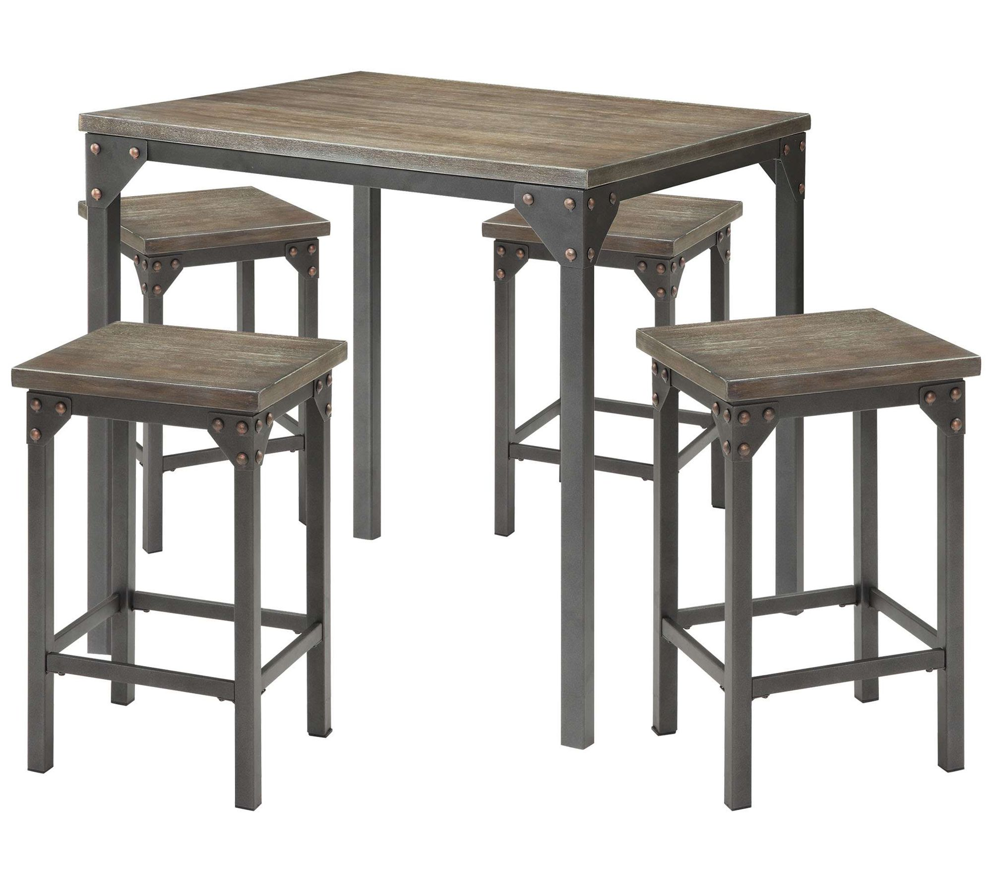 Acme Furniture Percie 11-Piece Counter-Height Dining Set - QVC.com