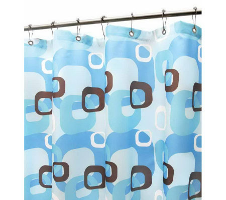 Watershed 2-in-1 Geo Squares 72x72 Shower Curtain