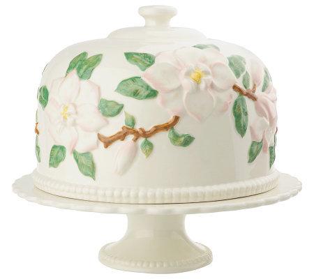 Heartfelt Hospitality Ceramic Cake Plate and Dome by Valerie  sc 1 st  QVC.com & Heartfelt Hospitality Ceramic Cake Plate and Dome by Valerie - Page ...