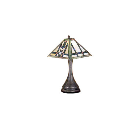 "Tiffany Style 17""H Mission Lamp"