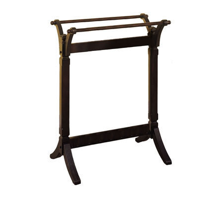 Contemporary Merlot Solid Wood Quilt Rack