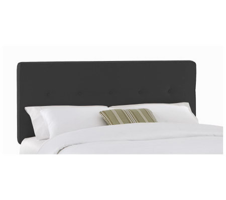 Button Premier Fabric Headboard - Cal King
